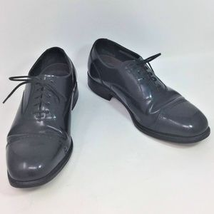 Florsheim Black Loafers Leather Lace Up Oxford 8.5